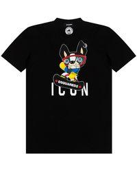 DSquared² Printed T-shirt - Blu