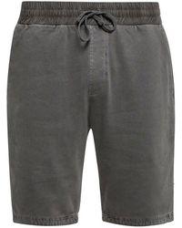 KENZO 'Pierce' drawstring shorts - Grigio