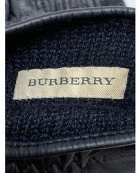 Burberry Etiqueta azul de material bicolor Negro