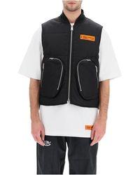 Heron Preston Padded vest with pockets - Negro