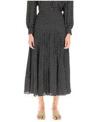 RIXO London Claire Midi Skirt - Zwart