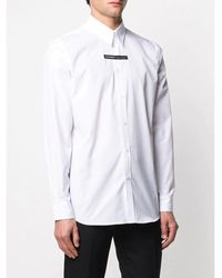 Givenchy Camisa Panel Logo Blanco