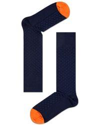 Happy Socks Dressed Moss Knit Sock Mok34 6001 - Blauw