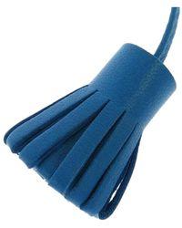 Hermès Carmencita segnapagina in pelle di vitello - Blu