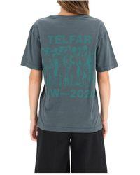 Telfar T-shirt logo Azul