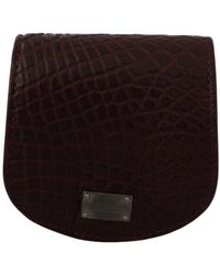 Dolce & Gabbana Exotic Skin Pocket Case Holder - Bruin