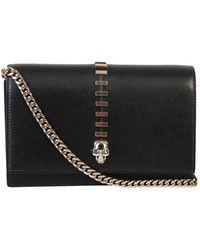 Alexander McQueen Borsa Skull Mini Bag - Zwart