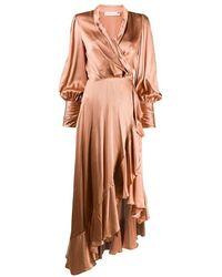 Zimmermann Wrap Dress - Roze