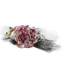 Dolce & Gabbana Tiara Silk Floral Crystal Diadem Headband - Rosa