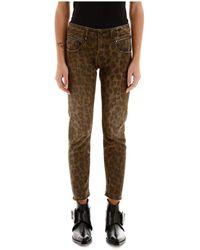 R13 Leo Biker Boy Jeans - Bruin