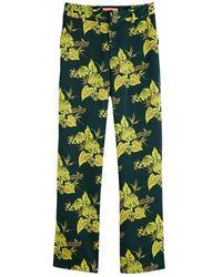 Maison Scotch 156384 Wide Leg Drapey Pants - Groen