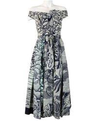 Dior Pre-owned robe - Bleu