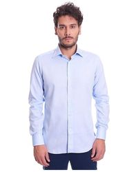 BRANCACCIO Fantasy Shirt With Italian Collar - Blauw