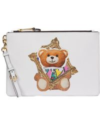 Moschino Pochette A Mano Woman Frame Teddy Bear - Wit