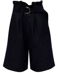 Ganni High-waisted Shorts - Blauw