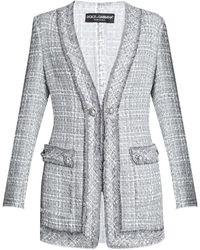 Dolce & Gabbana Tweed blazer - Grigio
