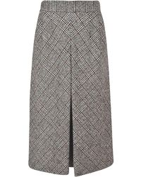 Dolce & Gabbana Midi Skirt - Grijs