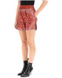 Golden Goose Cinderella Pajiama Shorts - Rosso