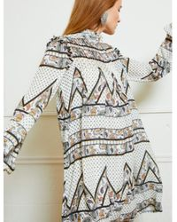 Silvian Heach Bissam Dress Paisley Print - Blanc