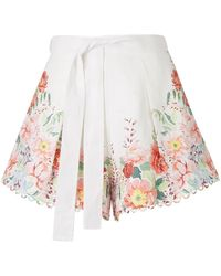 Zimmermann Bellitude Floral Shorts - Wit