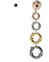 Midgard Paris Face of People earrings - Gelb