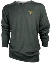 Aeronautica Militare Ma1068 Crew Neck Sweater - Vert