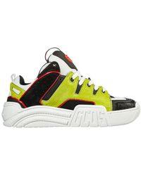 Gcds Big-g Leather Sneakers - Geel