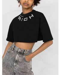 Alessandra Rich T-Shirt Negro