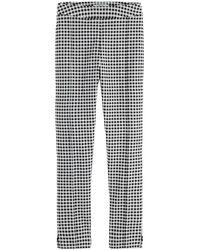 Maison Scotch 156401 Checked Straight Leg Pants - Grijs