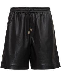 Rick Owens Doxxi Vegan Leather Bermuda Shorts - Zwart
