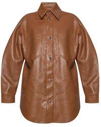 Nanushka Jacket From Vegan Leather - Bruin