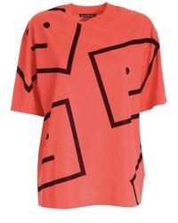 Acne Studios Tshirt fluo - Arancione