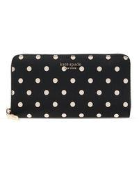 Kate Spade Spencer Cabana Dot Wallet - Zwart
