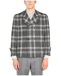 Thom Browne Wool Coat - Grigio