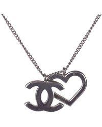 Chanel Heart Pendant Necklace - Grigio