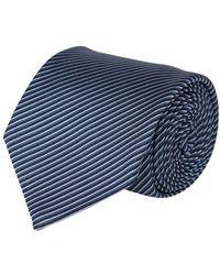Tom Ford Striped Tie - Blauw
