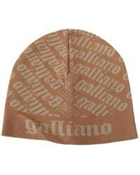 John Galliano Wool Beanie - Neutro