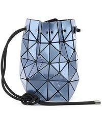 Issey Miyake Lucent Metallic Bucket Bag - Blauw