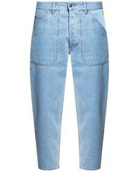 Nanushka Jeans with logo - Blu
