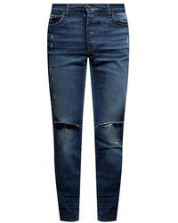 Amiri Jeans With Worn Effect - Blauw