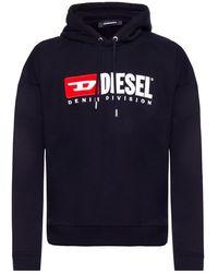 DIESEL - Logo Geborduurd Sweatshirt - Lyst