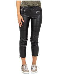 Patrizia Pepe Pants with zip - Noir