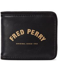 Fred Perry Wallet arch branded - Negro