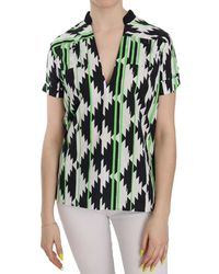 CoSTUME NATIONAL Plunging Top Blouse - Vert
