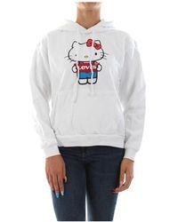 Levi's Levis 74318 0041 Unbasic Hoodie - Hello Kitty Sweater Women White - Wit