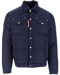 DSquared² Goose Down Jacket - Blauw