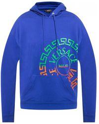Versace Logo Hoodie - Blauw