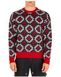Gcds Men's Crew Neck Neckline Jumper Sweater Pullover - Zwart
