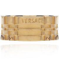 Versace Greek-pattern ring - Gelb