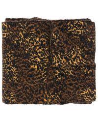 Saint Laurent Sjaal Echarpe Micro Leopard 23x220 - Naturel